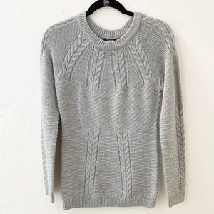 PattyBoutik Sweater Crewneck Cable Knit